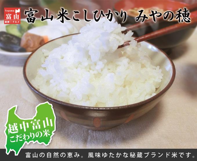 富山米こしひかり みやの穂 富山の自然の恵み。風味ゆたかな秘蔵ブランド米です。