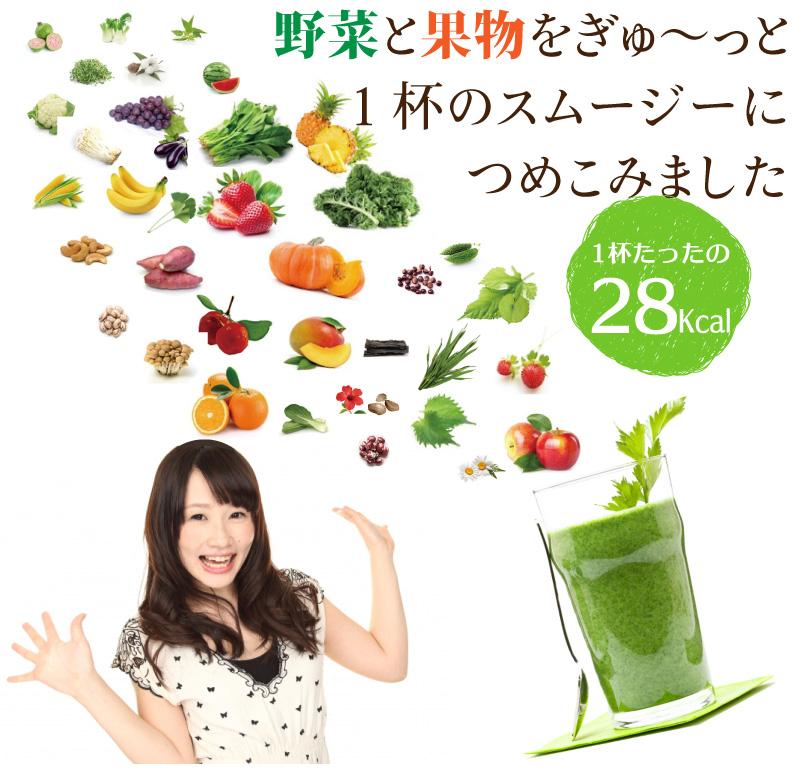 果物と野菜を詰め込みました。