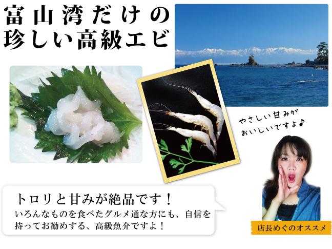 富山湾だけの珍しい高級えび白えび